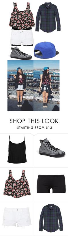 """""""Lauren Cimorelli Inspired #2"""" by montanaaisgro ❤ liked on Polyvore featuring Topshop, Converse, Forever 21, C.R.A.F.T., J Brand, Madewell and NIKE"""