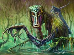 Deities, Spirits and Monsters in East Slavic Mythology Mythological Creatures, Fantasy Creatures, Mythical Creatures, Eslava, Swamp Creature, Myths & Monsters, Religion, Legends And Myths, Monster Design