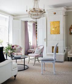 Pudriga pasteller och 1700-tal i Djurgårdsvillan - Sköna hem