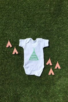 Happy Camper Tipi Tent in Sage Green 100% Organic Cotton Baby