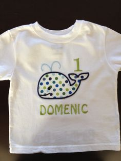Whale 1st Birthday Shirt by SewciallyChic on Etsy, $18.95