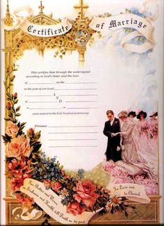 Victorian Marriage Certificate