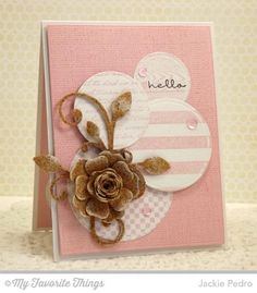 Corky Hello-Stamps: Pretty Poppies (sentiment), Striped Background, Wood Plank Background, Fine Check Background, Linen Background, Romantic Script Background (MFT)  Paper: Sweet Tooth, Pink Lemonade, Cork Sheets (MFT)  Paper Size: A2  Ink: Pink Lemonade, Black Licorice, Sweet Tooth Pigment Ink (MFT)  Accessories: Die-namics Mini Hybrid Heirloom Rose, Leaf-Filled FlourishCircle STAX Set 1, Circle STAX Set 2 (MFT), Foam Tape  Read more…