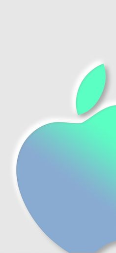 Blue gradient Apple for iPhone by @Hk3ToN on Twitter