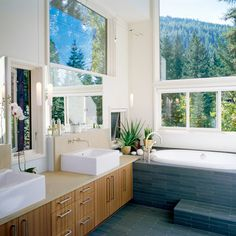Grant Creek - contemporary - bathroom - other metro - Heliotrope Architects