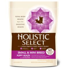 Holistic Select Dog Food - Small & Mini Breed Puppy Health Anchovy, Sardine & Chicken Meals