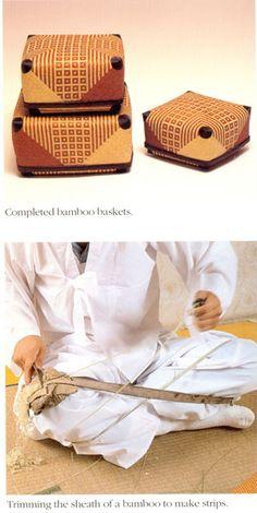 colorful bamboo basket