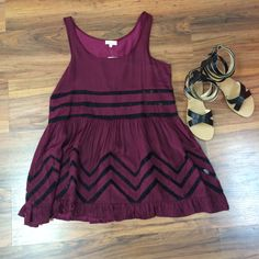 *NEW ARRIVAL* This maroon tunic dress is perfect for this hot summer weather! :) #styledbyBreanna