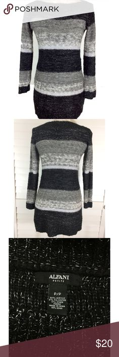 ❄️Alfani | Warm Fall & Winter Long Sleeve Dress❄️ ⚜Bust: ⚜Waist: ⚜Sleeve Length: ⚜Length:  🎀Condition: No Rips; No Stains  🎀88% Acrylic 6% Polyester 6% Other Fibers  🚫No Trades🚫No Holds🚫 Alfani Dresses Long Sleeve