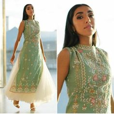 Anita Dongre anarkali with Kurti Pakistani Dresses, Indian Dresses, Indian Outfits, Kurti Designs Party Wear, Kurta Designs, Anita Dongre, Rupi Kaur, Indian Designer Suits, India Fashion