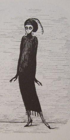 She's actually beautiful. Edward Gorey. What an artist.