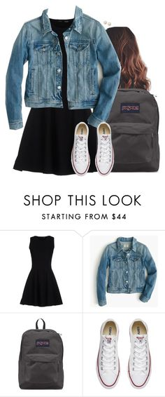 """""""Should I get a jean jacket?"""" by aweaver-2 ❤ liked on Polyvore featuring Proenza Schouler, J.Crew, JanSport, Converse and Honora"""