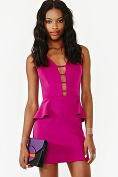 Trouble Bound Peplum Dress in Clothes at Nasty Gal