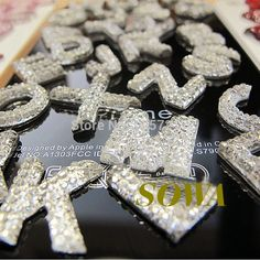 Free Shipping 260pcs Crystal A Z Letter/Alphabet Flat Back Resin Rhinestone Beads,Resin Cartoon For DIY Decoration-in Garment Beads from Home & Garden on Aliexpress.com | Alibaba Group