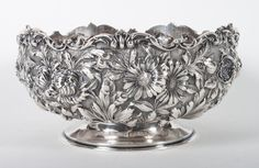 "Stieff ""Rose"" sterling silver center bowl"