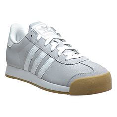 Adidas Samoa Women s Shoes Light Solid Grey White Silver Metallic B(M) US).  Three-Stripes branding Textile-lined midsole Style no. Leather and suede  upper  7853669bb