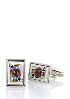 Link Up King of Spades Cufflinks.