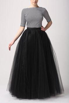 Full Length 5 Layerswomen's Tutu Tulle Skirt Ladies' A-Line Style Bouffant Dress