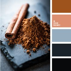 Color Palette - Cool shades from blue to almost black are diluted with warm colour of cinnamon and beige. Beige Color Palette, Bedroom Colour Palette, Blue Color Schemes, Beige Colour, Pantone, Decoration Palette, Brown And Blue Living Room, Color Balance, Warm Colors