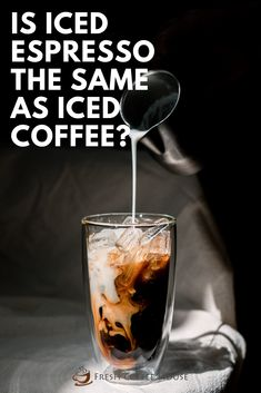Have you been to your favorite coffee shop recently and noticed a new type of cold coffee you've never tried before? I had a chance to try an iced espresso instead of an iced coffee for the first time and want to tell you about the differences. #coffee #espresso Coffee Cream, Coffee Type, Black Coffee, Coffee Shop, Cold Coffee Drinks, Fresh Coffee, Iced Coffee, Types Of Coffee Beans, Famous Drinks