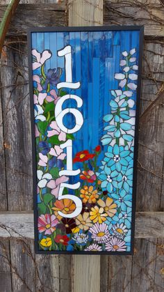 Custom House Numbers Stained Glass Mosaic   Etsy