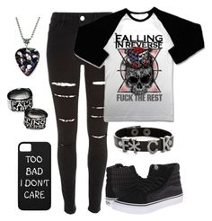 """*F*ck The Rest* Falling In Reverse"" by whisper401 ❤ liked on Polyvore featuring art"