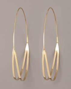 Flirt Hoop Earrings by Lana at Neiman Marcus.