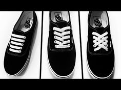 3 Creative Ways To Lace Your Shoes How To Lace Vans, How To Tie Laces, Ways To Lace Shoes, Fancy Shoes, Tie Shoes, Your Shoes, Ways To Tie Shoelaces, Elastic Shoe Laces, Tying Shoe Laces