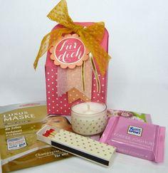 Beauty & Wellness - Geburtstagsgeschenk Mini Wellnessbox - ein Designerstück von Stempelitis bei DaWanda