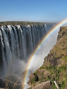 Victoria Falls, Zambia, Zimbabwe, South Africa is a major tourist attraction and regularly seen as one of the Seven Natural Wonders of the World. The Zambezi River is the river that flows over the Victoria Falls and with the highest point being over 360 feet tall, they are some of the most dominant and prominent waterfalls anywhere in the world.