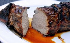 Grilled Balsamic Garlic Pork Tenderloin