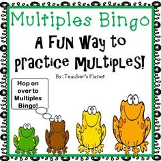 FREE Multiples BingoTo celebrate my 600th follower, I am offering this fun free Bingo game!Students love bingo games! This game is a fun way to learn multiples. Students write numbers between 1 and 12 on their bingo boards. The caller then draws a multiple.