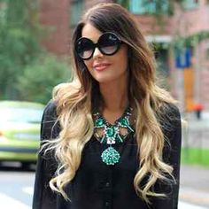 New womens fashion model blogger round half tint lens sunglasses 8511 black $9