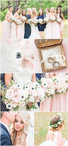 blush and navy wedding inspiration | navy anemone flowers | navy wedding bouquets | blush and navy wedding bouquets | Sisterdale Dancehall | Boerne Texas Wedding Venue | blush navy and gold wedding at Sisterdale dance hall in Boerne Texas by Allison Jeffers Wedding Photography 0128
