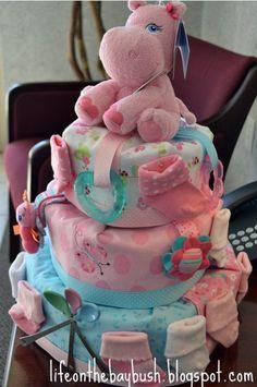 pink nappycake