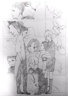 Awww the feelings are hitting hard Shikadai, Shikatema, Sarada Uchiha, Naruhina, Naruto Shippuden, Anime Ninja, Anime Naruto, Naruto Clans, Shikamaru And Temari