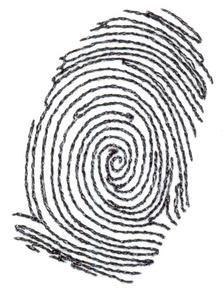 Fingerprint Tattoo (TT067) Embroidery Design by Stitchitize
