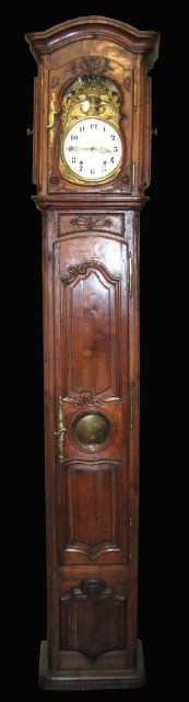 French 18C (c.1760) Cherry Grandfather Clock
