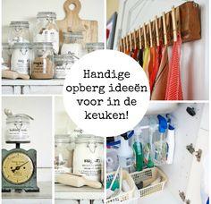 Handige opberg ideeën voor in de keuken Caravan Makeover, Studio Organization, Kitchen Time, Smart Storage, Make Your Own, How To Make, Bathroom Medicine Cabinet, Basin, Storage Spaces