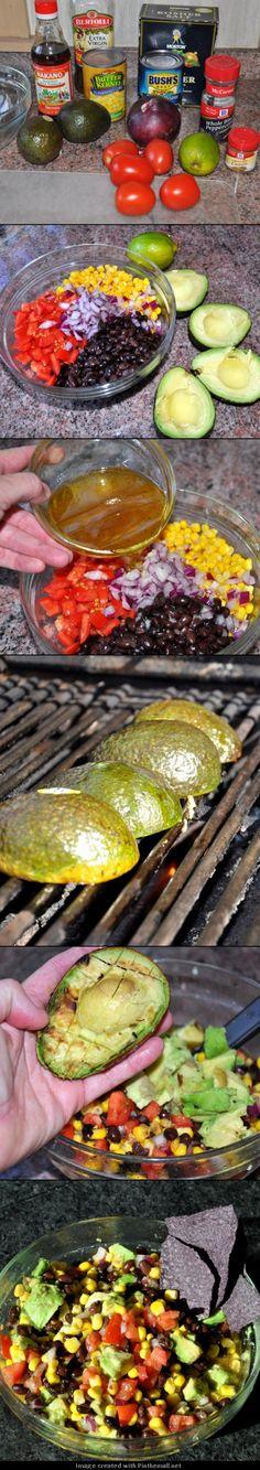 Grilled Avocado Salsa...