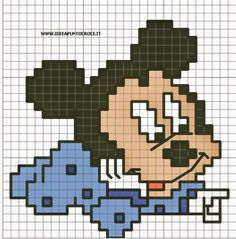 Baby topolino 30 punti by on deviantart disney узор Cross Stitch For Kids, Cross Stitch Baby, Cross Stitch Charts, Cross Stitch Patterns, Deviantart Disney, Pixel Crochet, Crochet Cross, Crochet Disney, Image Clipart