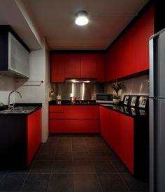 Pindenise Mitchell On 13Th Kitchen  Pinterest  Kitchens Inspiration Kitchen Design Red And Black Decorating Design