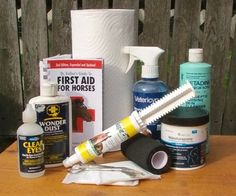 Build a 'better than store bought' horse first aid kit for less money.