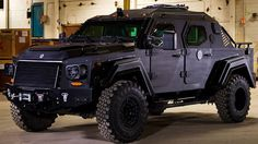 Bullet-proof armored truck