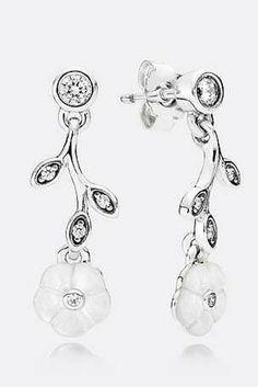 Shop Pandora Pandora Earrings Luminous Florals Drop Earrings Mother Of Pearl Clear Cz Pandora Earrings, Earrings Uk, Pandora Jewelry, Pandora Charms, Sterling Silver Earrings, Pandora Pandora, Hanging Earrings, Chandelier Earrings, Fine Jewelry