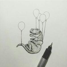 Billedresultat for dinosaur balloons sketch