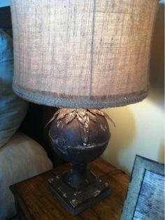 love the rustic lamp