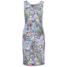 333cc2ba6595a6 Buy Joseph Ribkoff Printed Paisley Dress 181736 by Joseph Ribkoff from our  Women range - Blue -   Robert Goddard