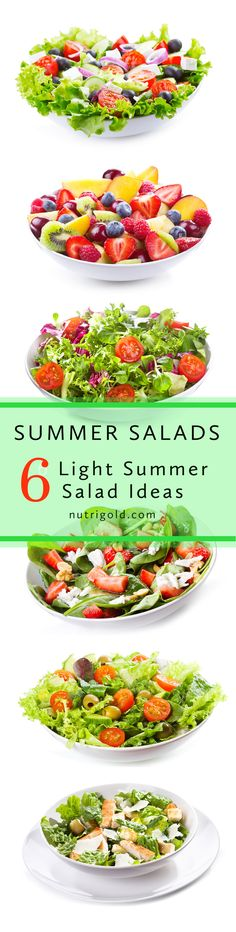 Six Summer Salads Welcome to summer! One of the best things about summer is the…