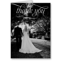 Shop Simple Script Wedding Photo Thank You Card created by berryberrysweet. Photo Thank You Cards, Custom Thank You Cards, Wedding Thank You Cards, Photo Cards, Card Wedding, Save The Date Invitations, Simple Wedding Invitations, Thankful For Friends, Thank You Card Template